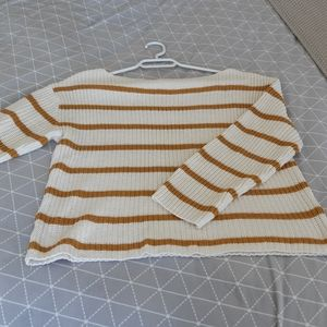 H&M striped sweater size small